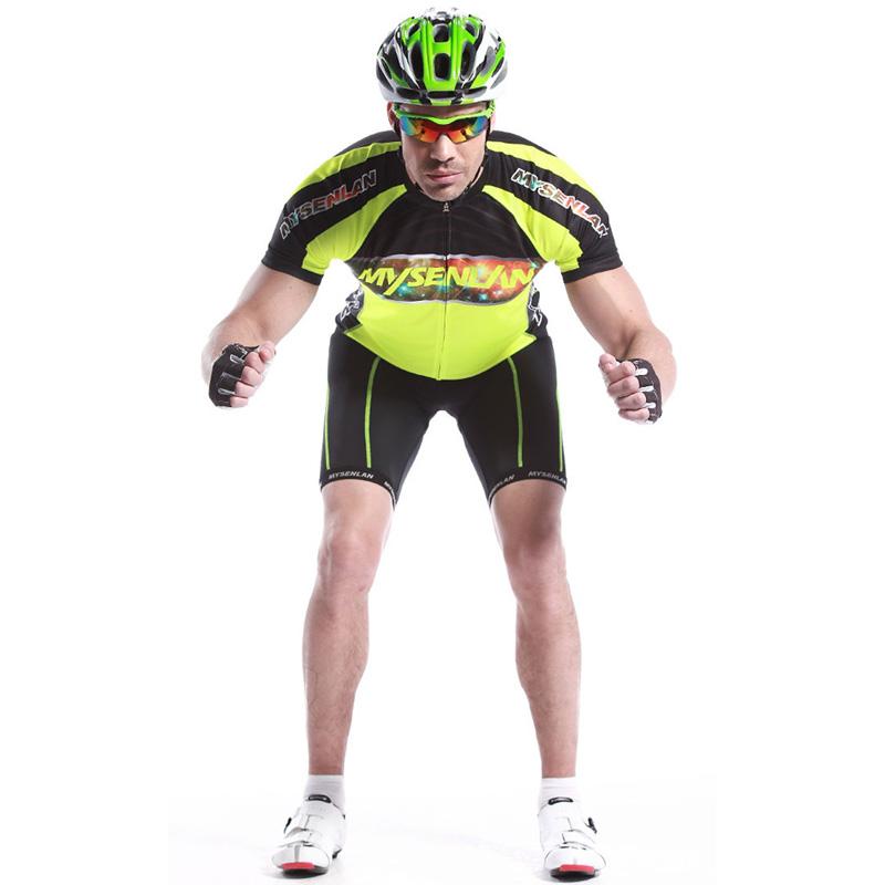 MYSENLAN迈森兰 领骑先锋 璀璨骑行服短袖上衣男 自行车服装 户外运动骑行 专业服装