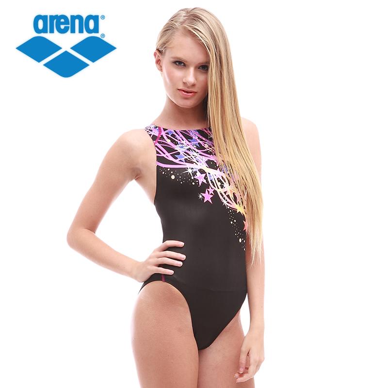 Arena/阿瑞娜女士 专业连体泳衣 健身比赛 露背游泳装