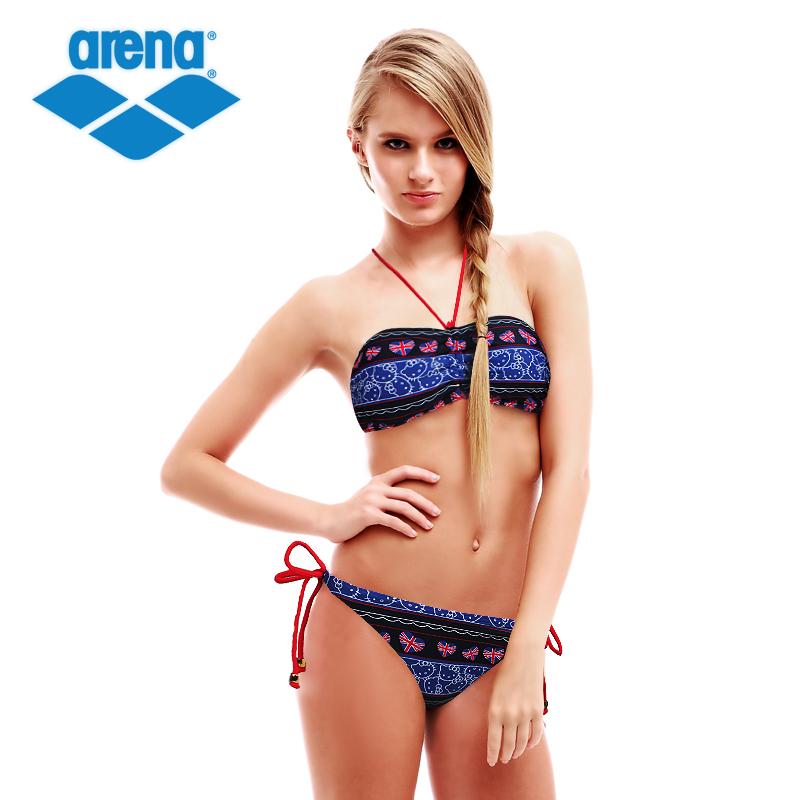 Arena/阿瑞娜 女士大胸泳衣 分体三角泳衣 性感 比基尼游泳衣 正品