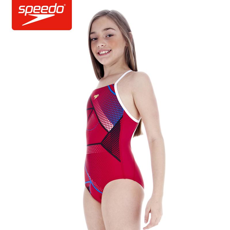 speedo 速比涛 泳衣 女 儿童泳衣 贴身舒适 游泳衣
