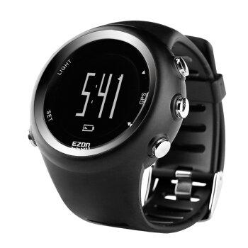 宜准(EZON)电子表男士手表跑步表马拉松专用GPS运动手表防水男士电子表