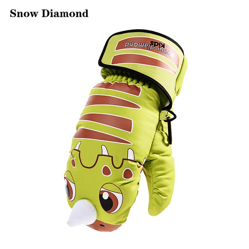 Snow Diamond 雪钻 2016冬季 儿童登山滑雪手套 霸王龙SD160002