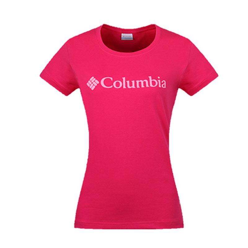 Columbia/哥伦比亚短袖T恤女简约夏季修身显瘦圆领短袖T恤